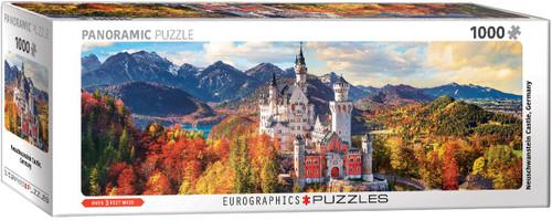 Neuschwanstein Castle in Autumn Panoramic 1000pc