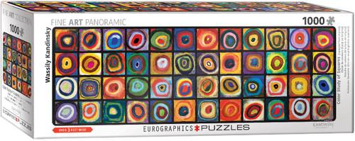 Color Study of Squares, Kandinsky Panoramic 1000pc