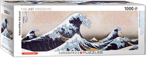 Great Wave of Kanagawa, Hokusai Panoramic 1000pc