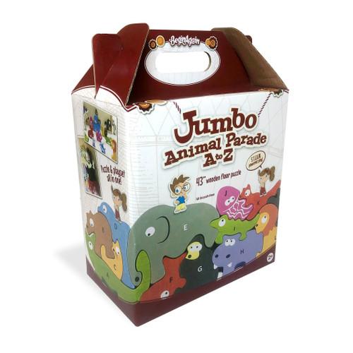 BeginAgain Jumbo Animal Parade Wooden Puzzle