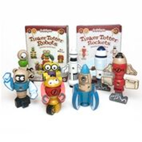 BeginAgain Tinker Totter Robots and Rockets Bundle