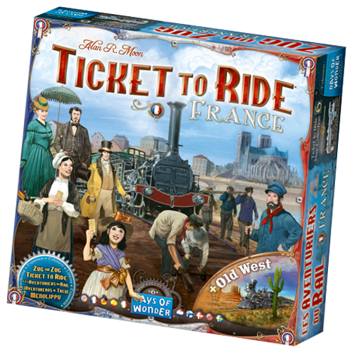 Ticket to Ride: France & Old West Maps box image