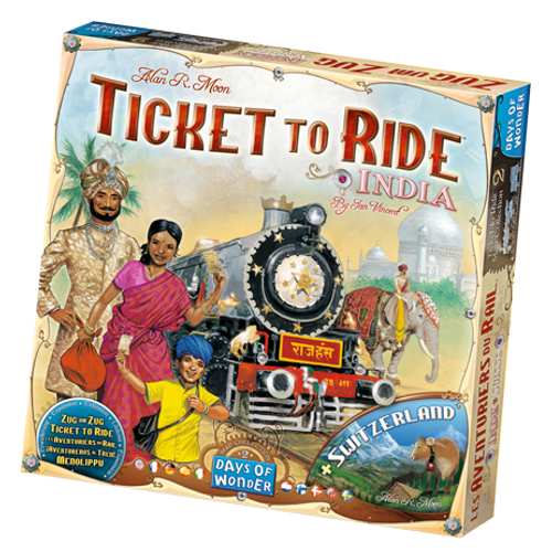 Ticket to Ride: India & Switzerland Maps box image