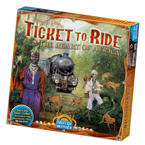 Ticket to Ride: The Heart of Africa Map box image