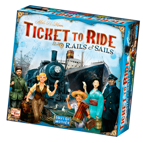 Ticket to Ride: Rails & Sails box image