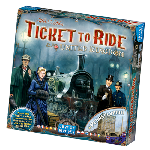 Ticket to Ride: United Kingdom & Pennsylvania Map box image