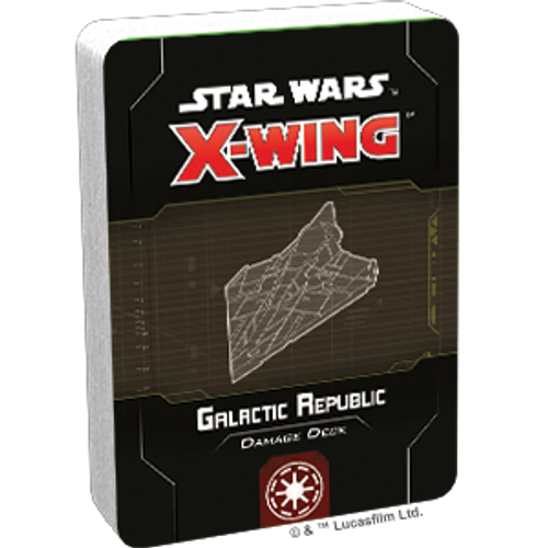 Star Wars X-Wing 2 Edition Galactic Republic Damage Deck Box