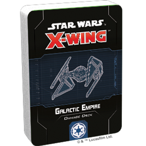 Star Wars X-Wing 2 Edition Galactic Empire Damage Deck Box