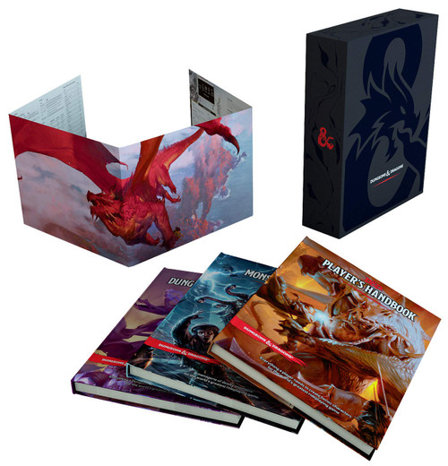 Dungeons & Dragons gift set box and components