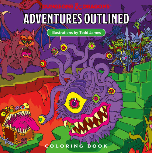 Dungeons & Dragons coloring book cover