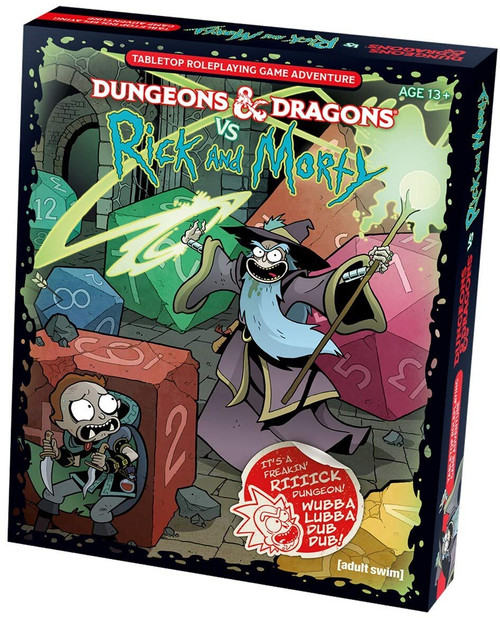 Dungeons & Dragons vs Rick & Morty box cover