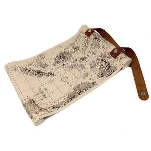 two compartment map dice scroll