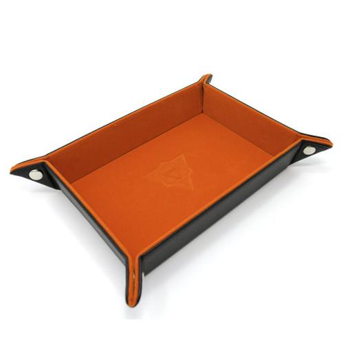 folding orange dice tray