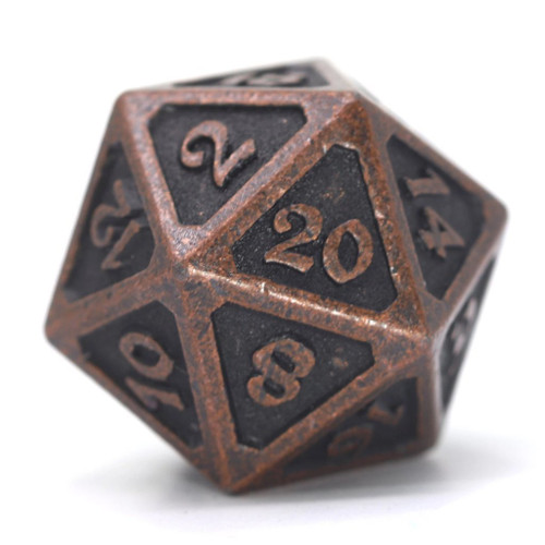 Mythica Dark Copper Metal Single d20