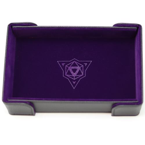 Purple Magnetic Folding Dice Tray (Rectangle)