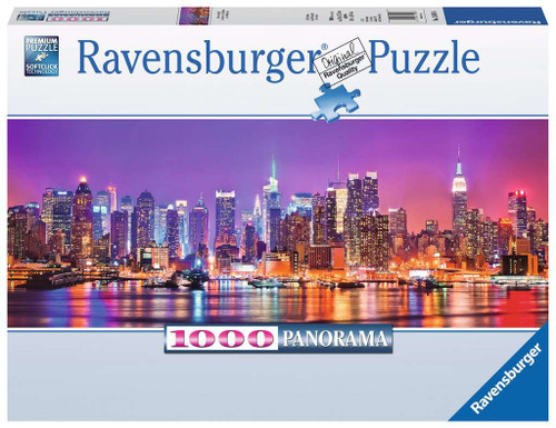 Manhattan Lights 1000pc Panorama box