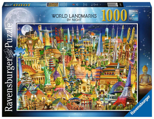 World Landmarks at Night 1000pc box
