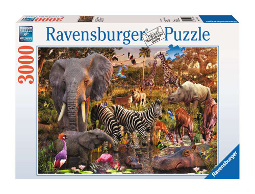 African Animal World 3000pc box