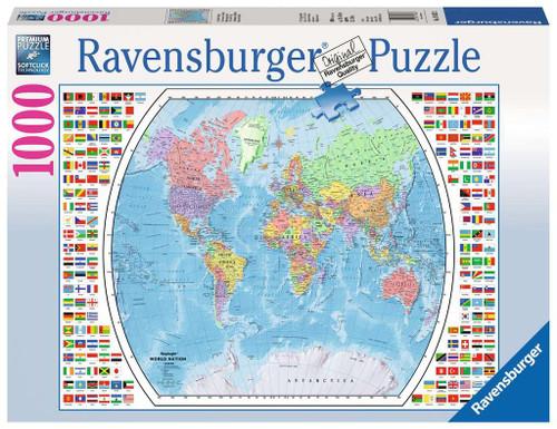 Political World Map 1000pc box