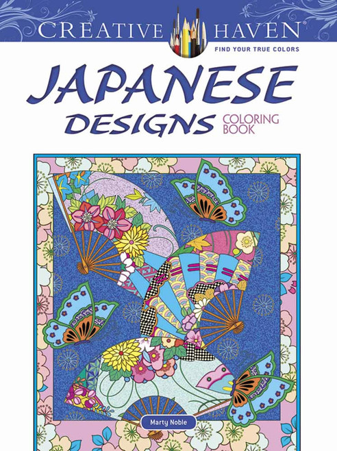 Japanese Designs Creative Haven Coloring Book