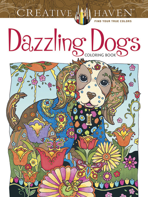 Dazzling Dogs Creative Haven Coloring Book