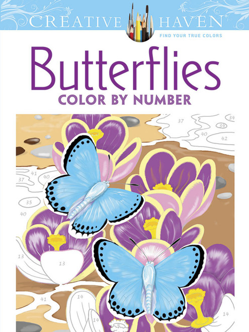 Butterflies Color By Number Creative Haven Coloring Book