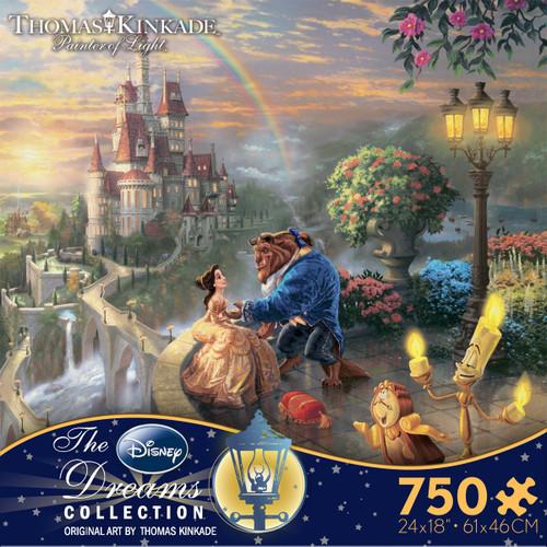 Beauty and the Beast Falling in Love 750pc Kinkade Disney box
