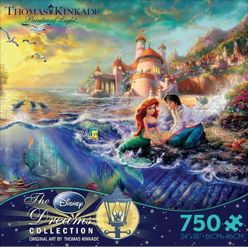 The Little Mermaid 750pc Kinkade Disney box