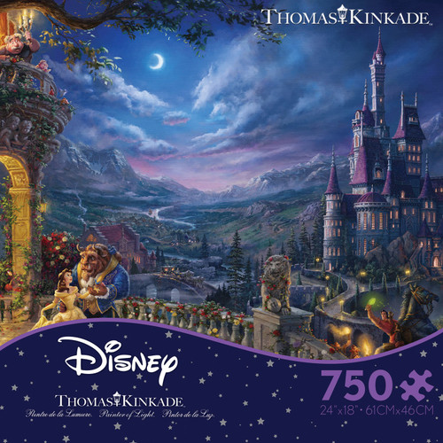 Beauty and the Beast Dancing in the Moonlight 750pc Kinkade Disney box