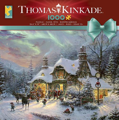 Santa's Night Before Christmas 1000pc Kinkade box