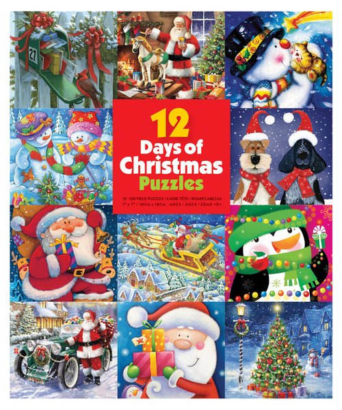 12 Days of Christmas Advent Puzzles box