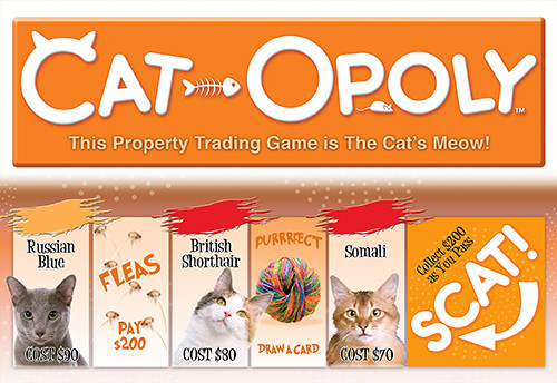 Image of Late For The Sky's Cat-Opoly box art