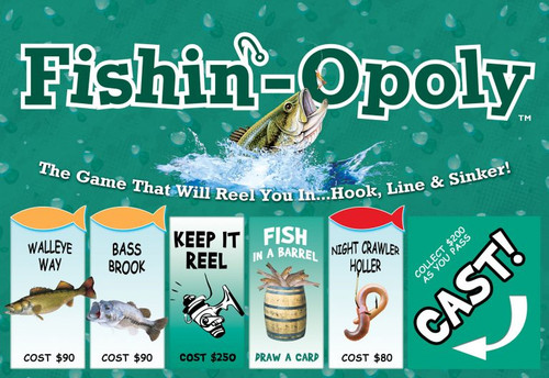 Image of Late for the Sky's Fishin'-Opoly box art