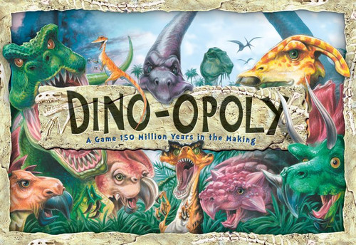 Image of Late for the Sky's Dino-Opoly box art
