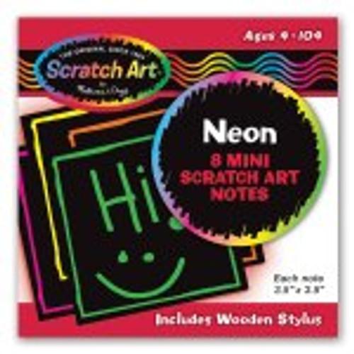 Mini Notes Neon Scratch Art