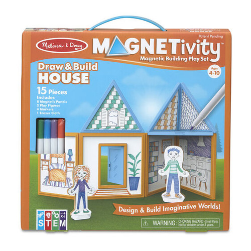 Draw & Build House Magnetivity