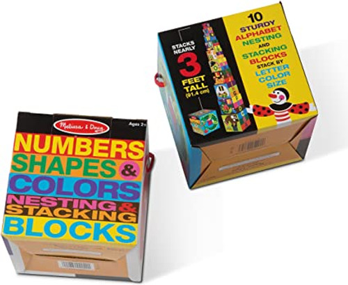 Numbers, Shapes, & Colors Nesting & Stacking Blocks