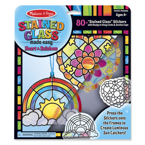 Heart & Rainbow Stained Glass Made Easy