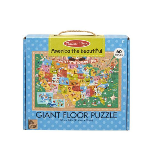 America the Beautiful Floor Puzzle Green