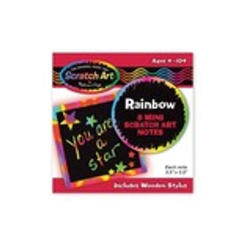 Mini Notes Rainbow Scratch Art