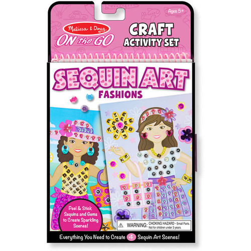 Fashion Sequin Scenes craft activity set