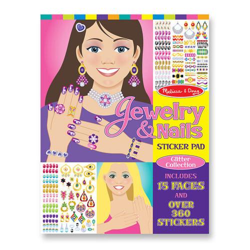 Jewelry & Nail Glitter Sticker Pad