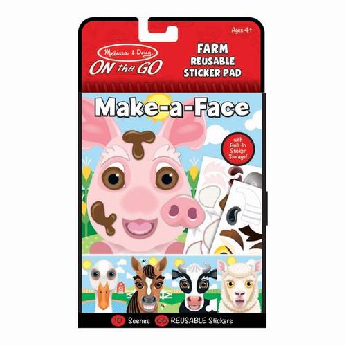 Farm Make-a-Face Reusable Sticker Pad