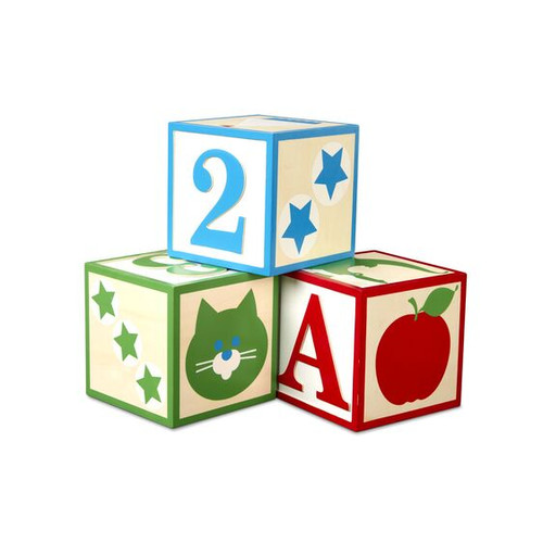 Jumbo ABC/123 Wooden Blocks Classic