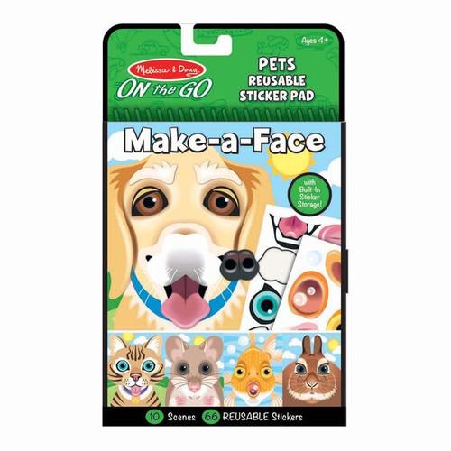 Pets Make-a-Face Reusable Sticker Pad