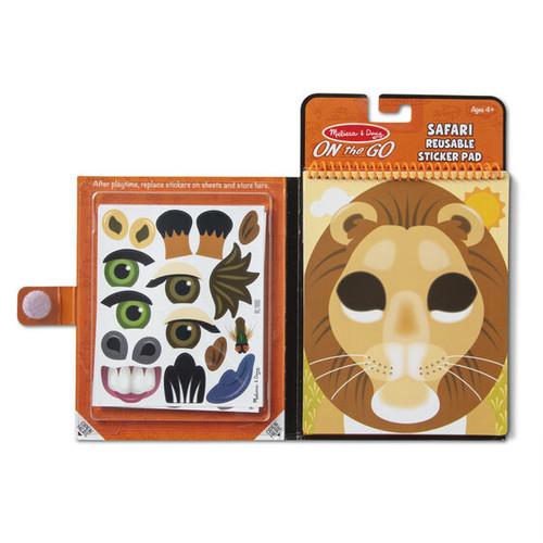 Safari Make-a-Face Reusable Sticker Pad