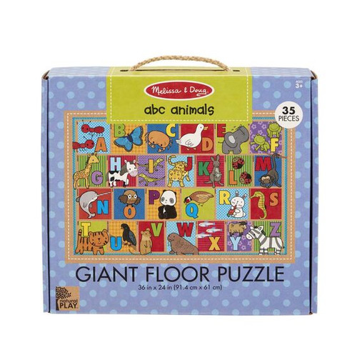 ABC Animals Floor Puzzle Green Start