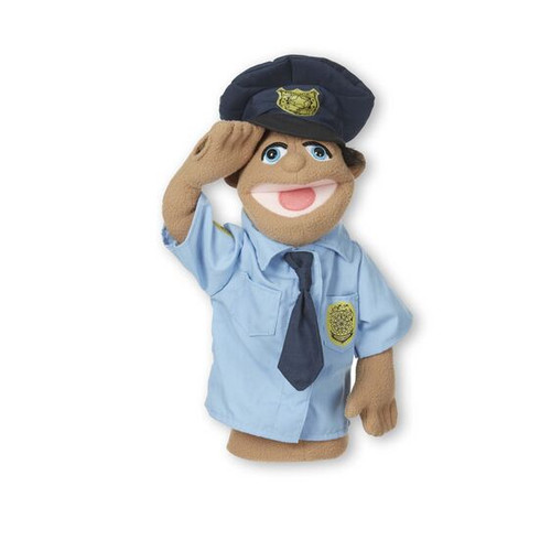 Police Officer hand puppet (box)