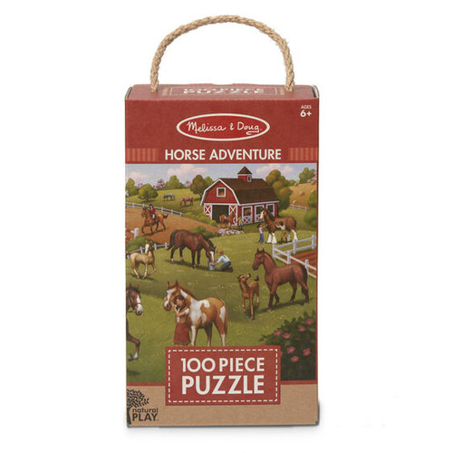 Horse Adventure Jigsaw Puzzle Green Star