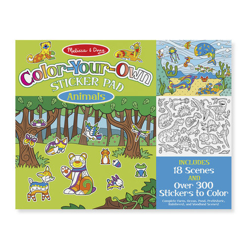 Animals Color-Your-Own Sticker Pad